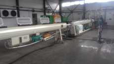 Трехслойная трубная линия армированная стекловолокном (PP-R)